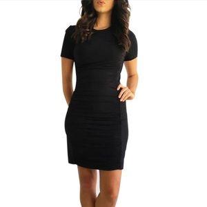 Theory Kaira Black Back Zip dress